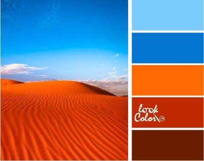 Красный, синий, оранжевый