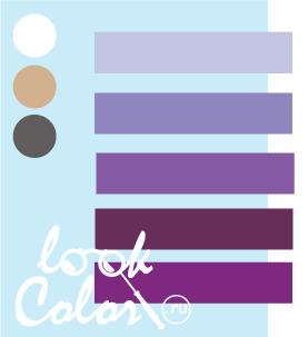 Сочетание бело голубого и фиолетового