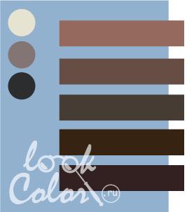 Сочетание серо голубого и коричневого