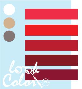 Сочетание бело голубого и красного