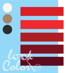 Сочетание светло голубого и красного