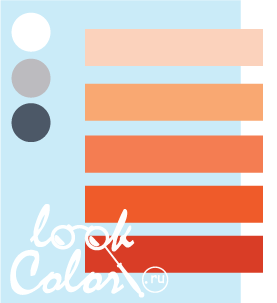 Сочетание бело голубого и оранжевого