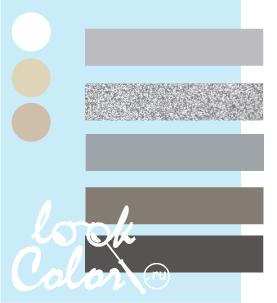 Сочетание бело голубого и серого