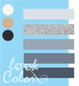 Сочетание светло голубого и серого