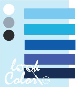 Сочетание бело голубого и синего