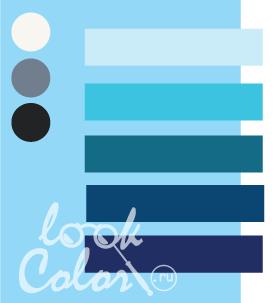 Сочетание светло голубого и синего