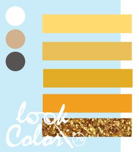 Сочетание бело голубого и желтого