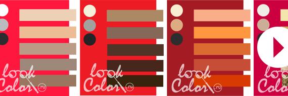 С каким цветом сочетается темно красный цвет