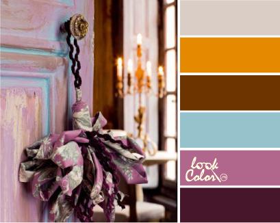 Сочетание с баклажановым цветом