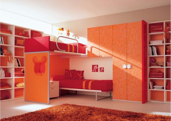 Сочетание красного и оранжевого цвета
