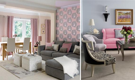 Розовый цвет в интерьере и его сочетание с другими цветами