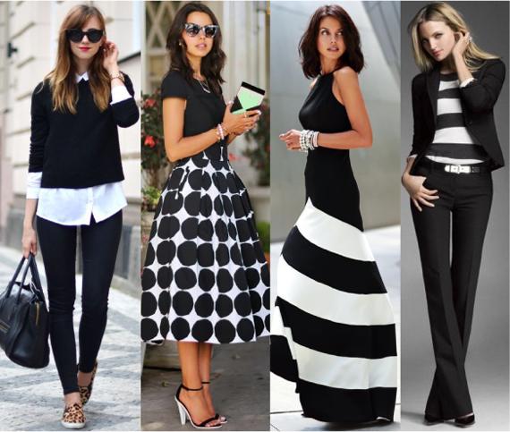 Черно белый цвет в одежде