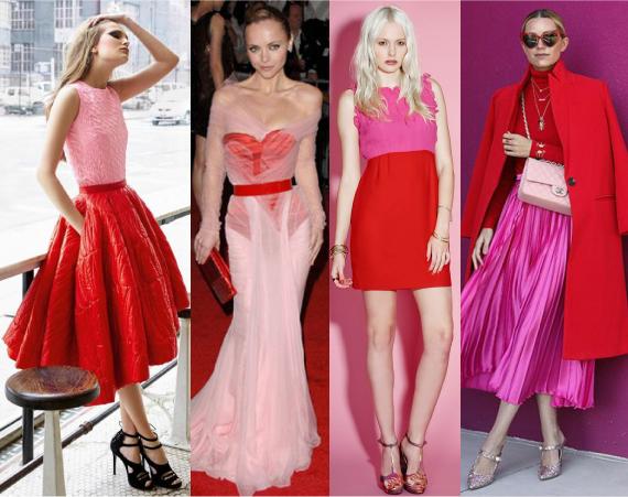 Красный цвет и розовый цвет
