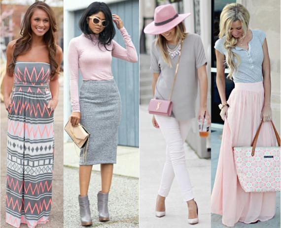 С чем сочетается нежно розовый цвет в одежде