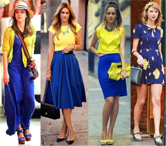 Сочетание цветов в одежде желтый