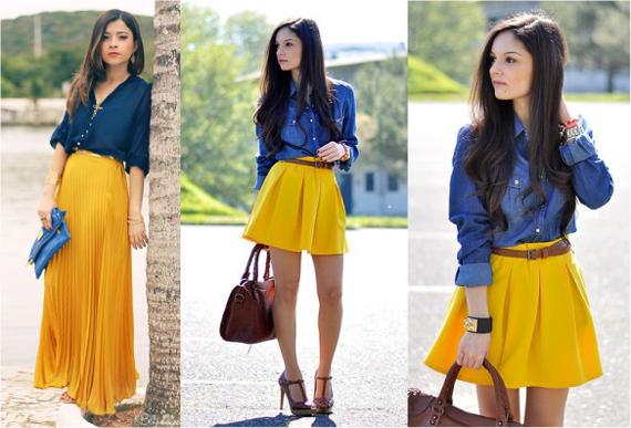 Сочетание цветов синий жёлтый