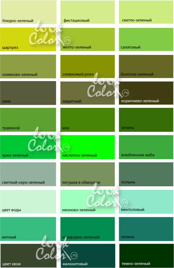 Как сделать оттенки зеленого 826
