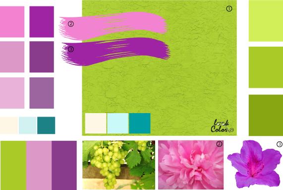 Салатовый цвет сочетание с другими цветами