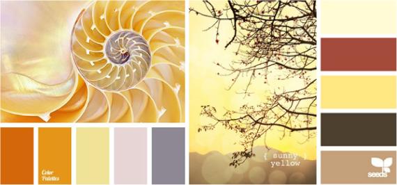 Сочетания цветов жёлтый