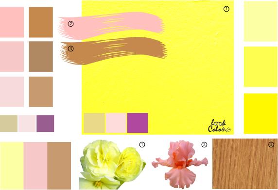 С каким цветом сочетается жёлтый цвет