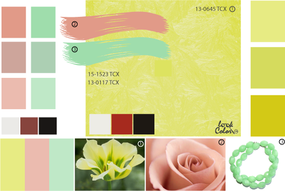 Зеленовато-желтый  цвет, сочетание желтого цвета