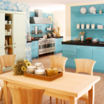 мебель цвета дерева для кухни