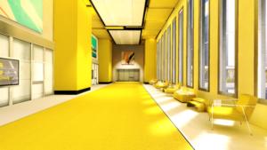 желтый интерьре