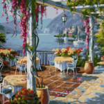 Кафе над морем. Картины по номерам