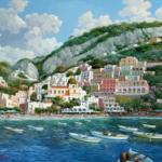 Лодки у города. Картины по номерам
