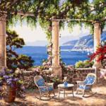 Средиземноморская терраса. Картины по номерам
