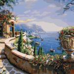 Терраса на Капри. Картины по номерам